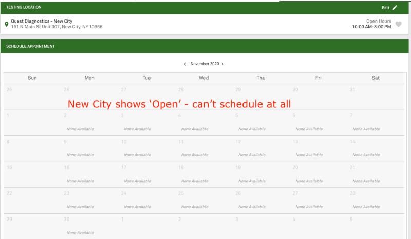 Quest New City Calendar